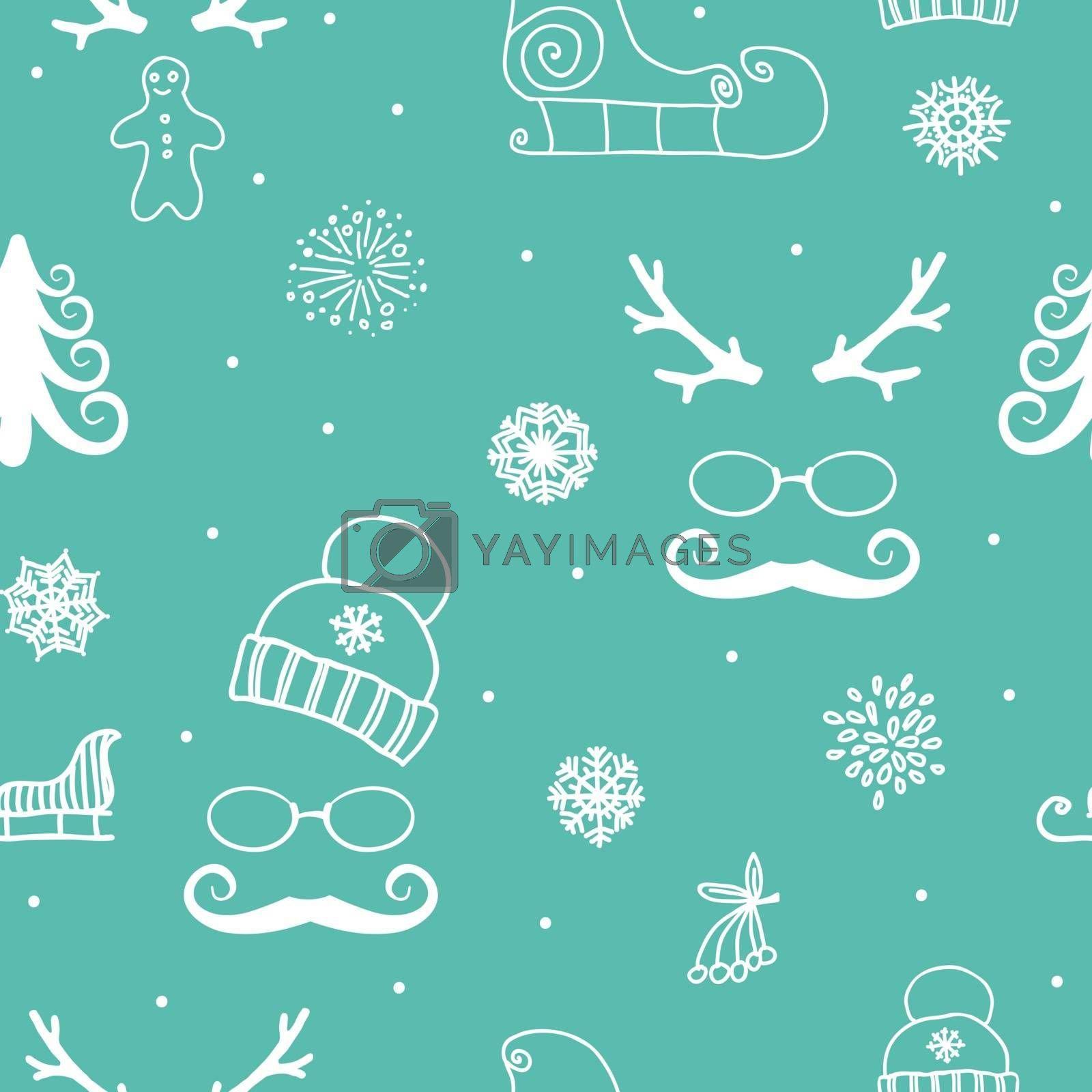 Beautiful winter seamless ornament for christmas winter design