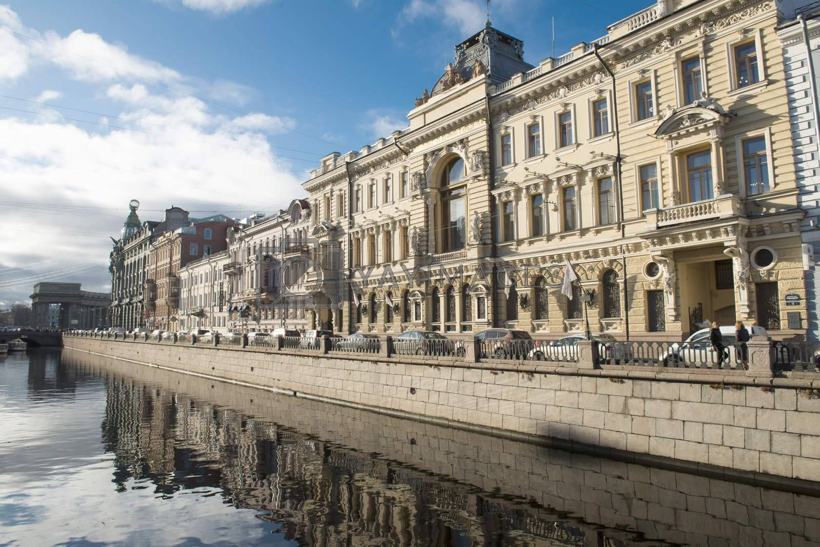 Griboedov canal in Sankt Petersburg. Russia