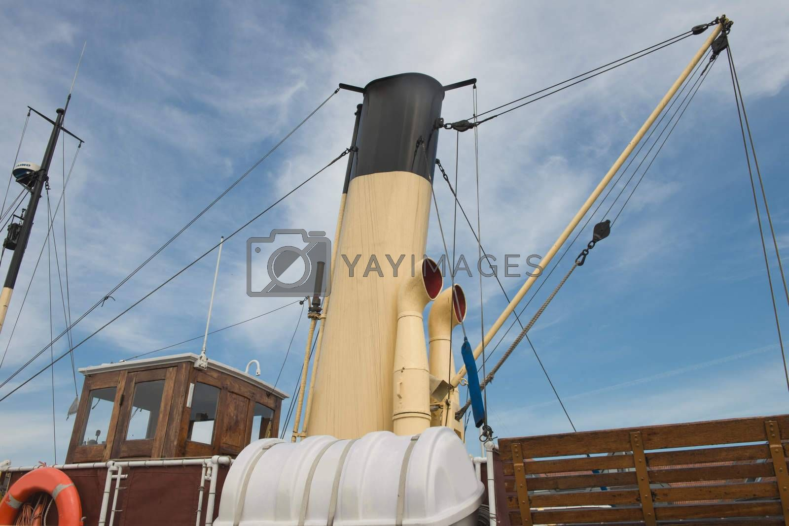 Smoke Stack of a Old Boat.