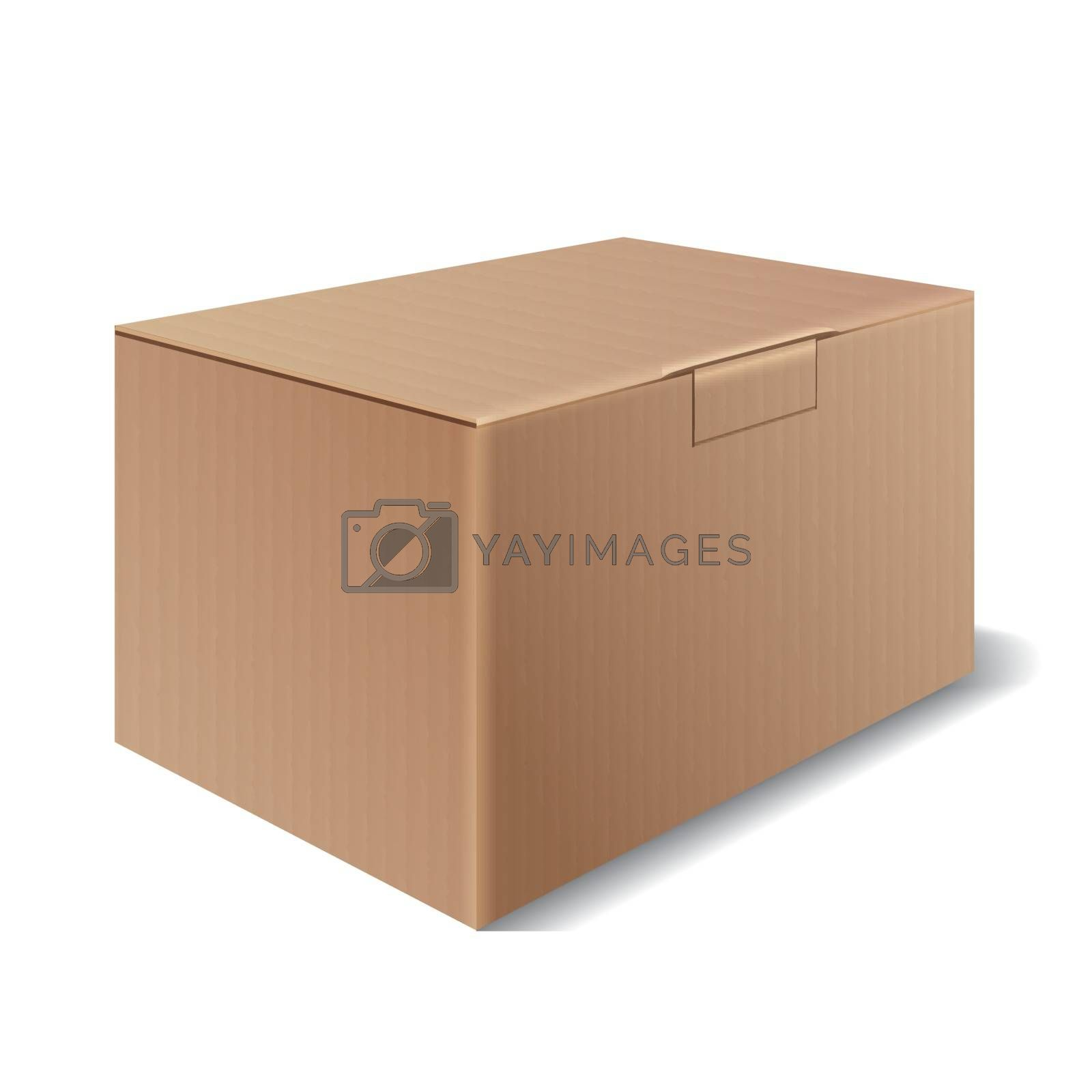 Cardboard box isolated on a white background. Symbol packaging for shipping. Vector illustration