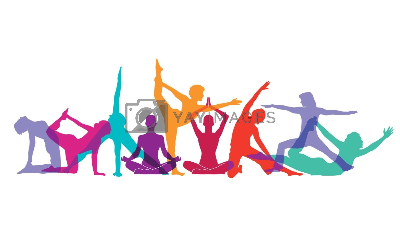 Royalty free image of Yoga and gymnastics poses by scusi