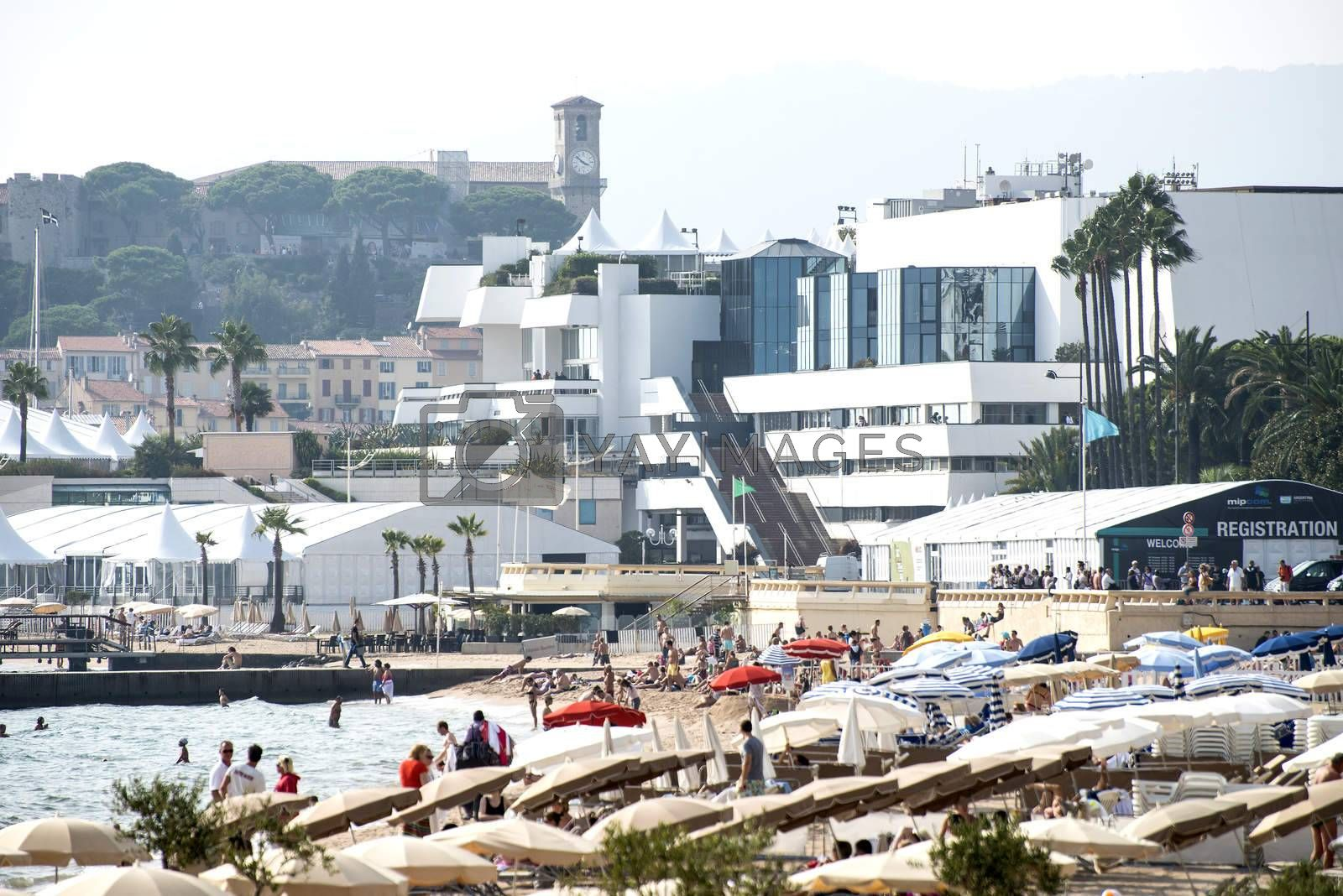 Cannes film festival palace, France.