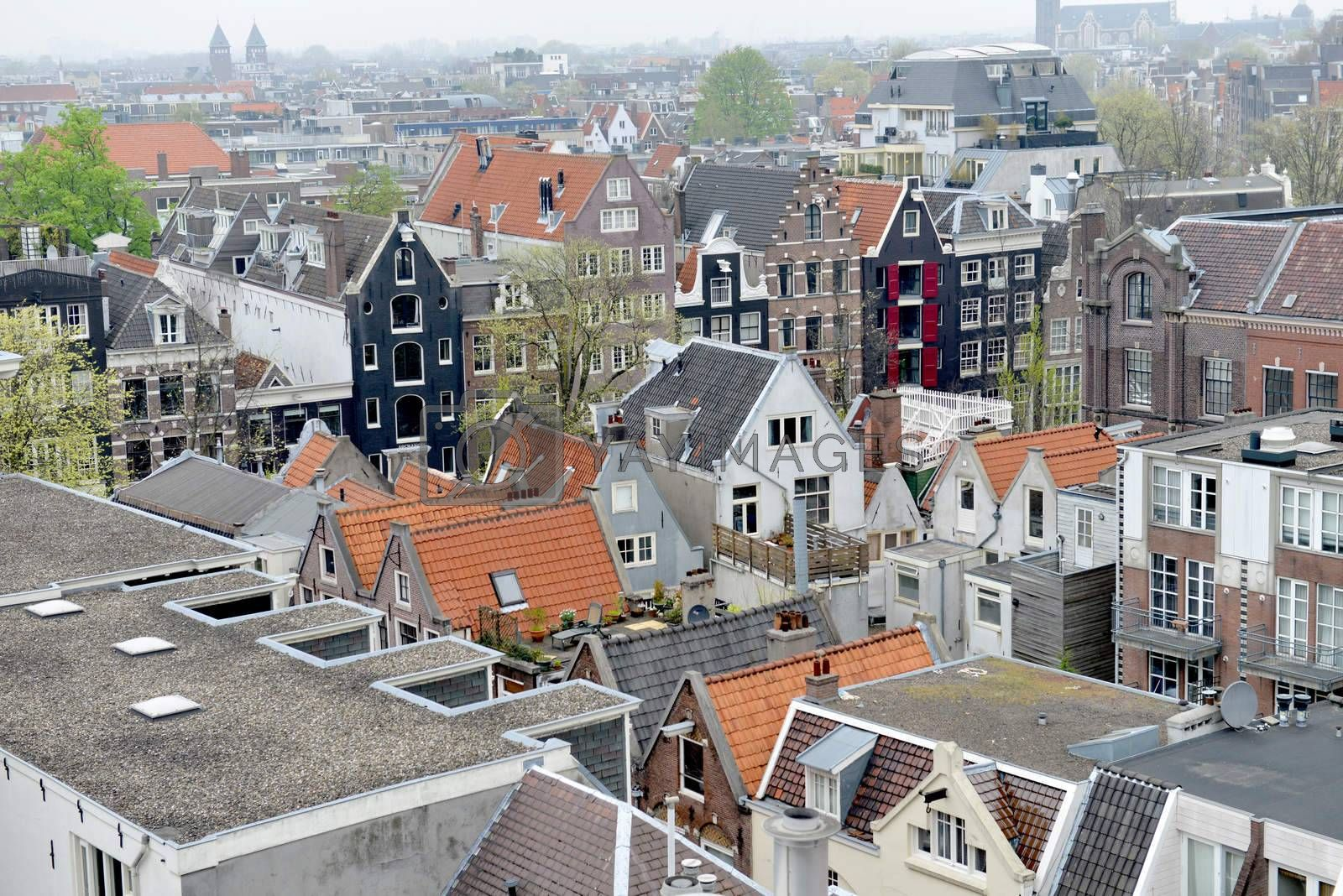 View over Amsterdam, the Netherlands.
