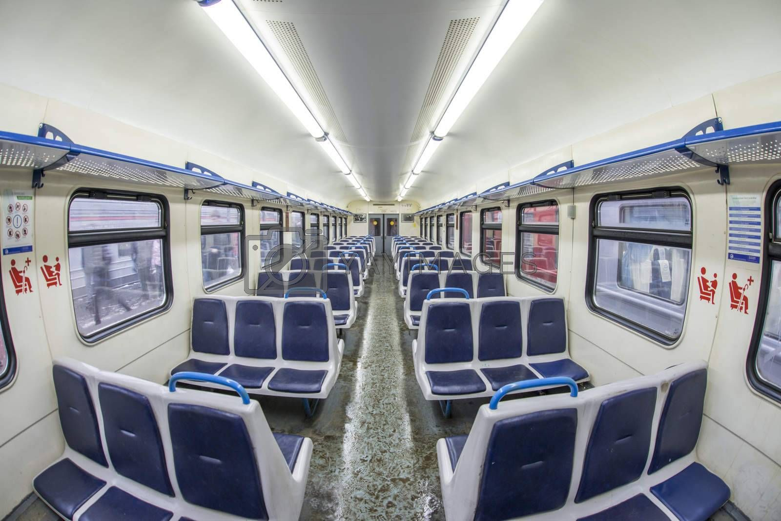 Interior of russian local train
