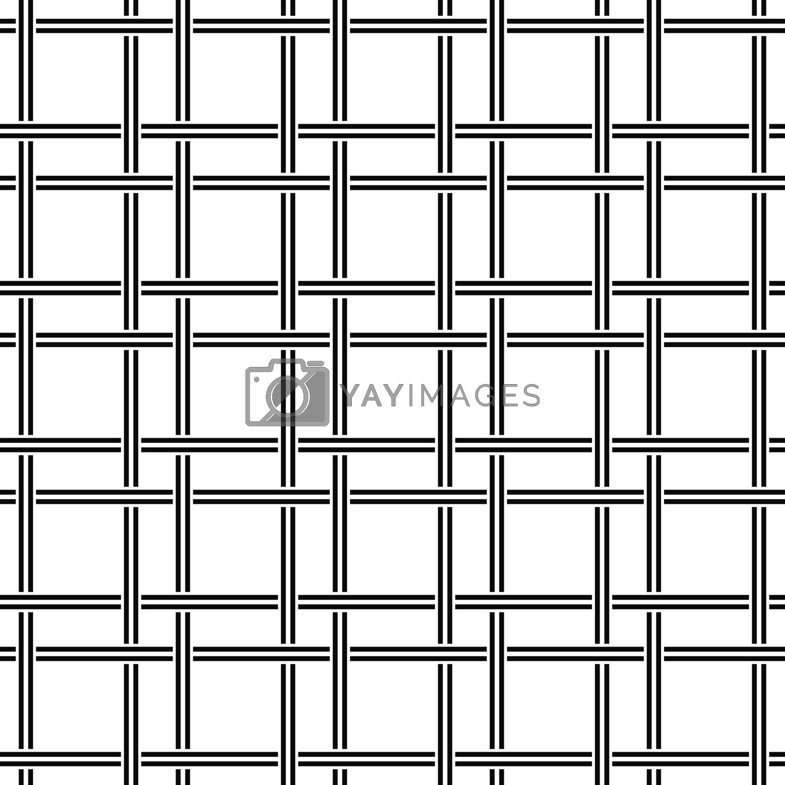 Black and white seamless line pattern design