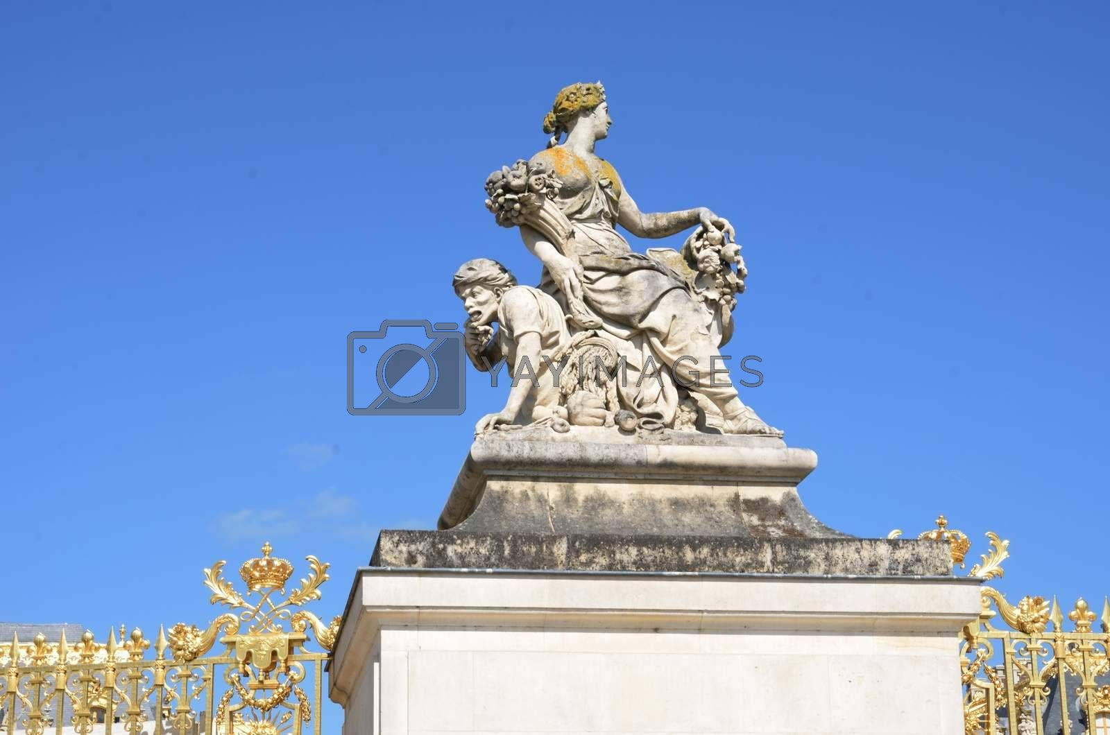 Grand Statue of woman  at Versailles