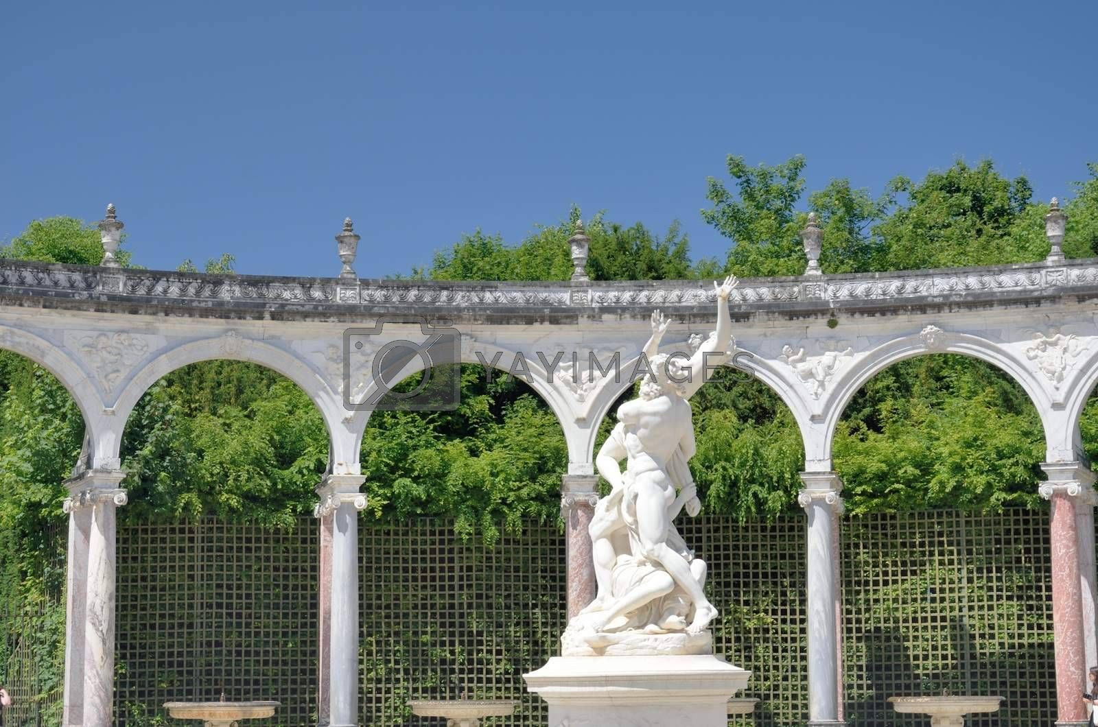 Statue in classical french garden