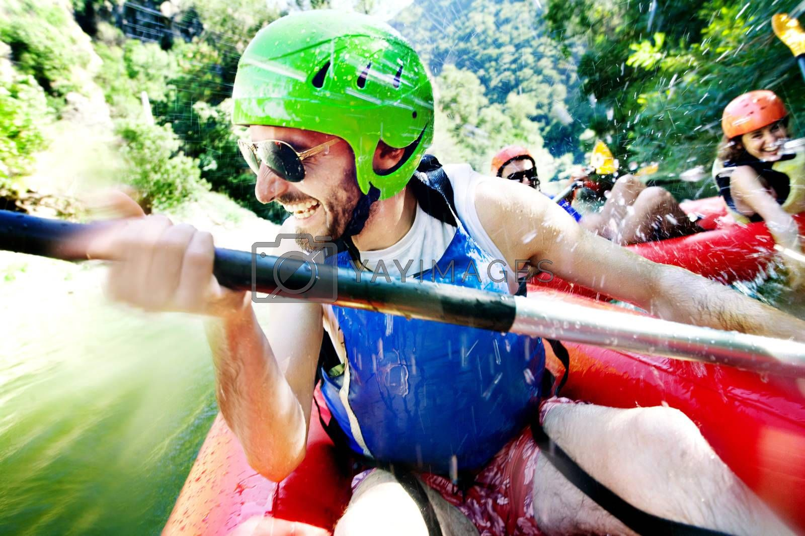 Royalty free image of rafting excitement by vilevi