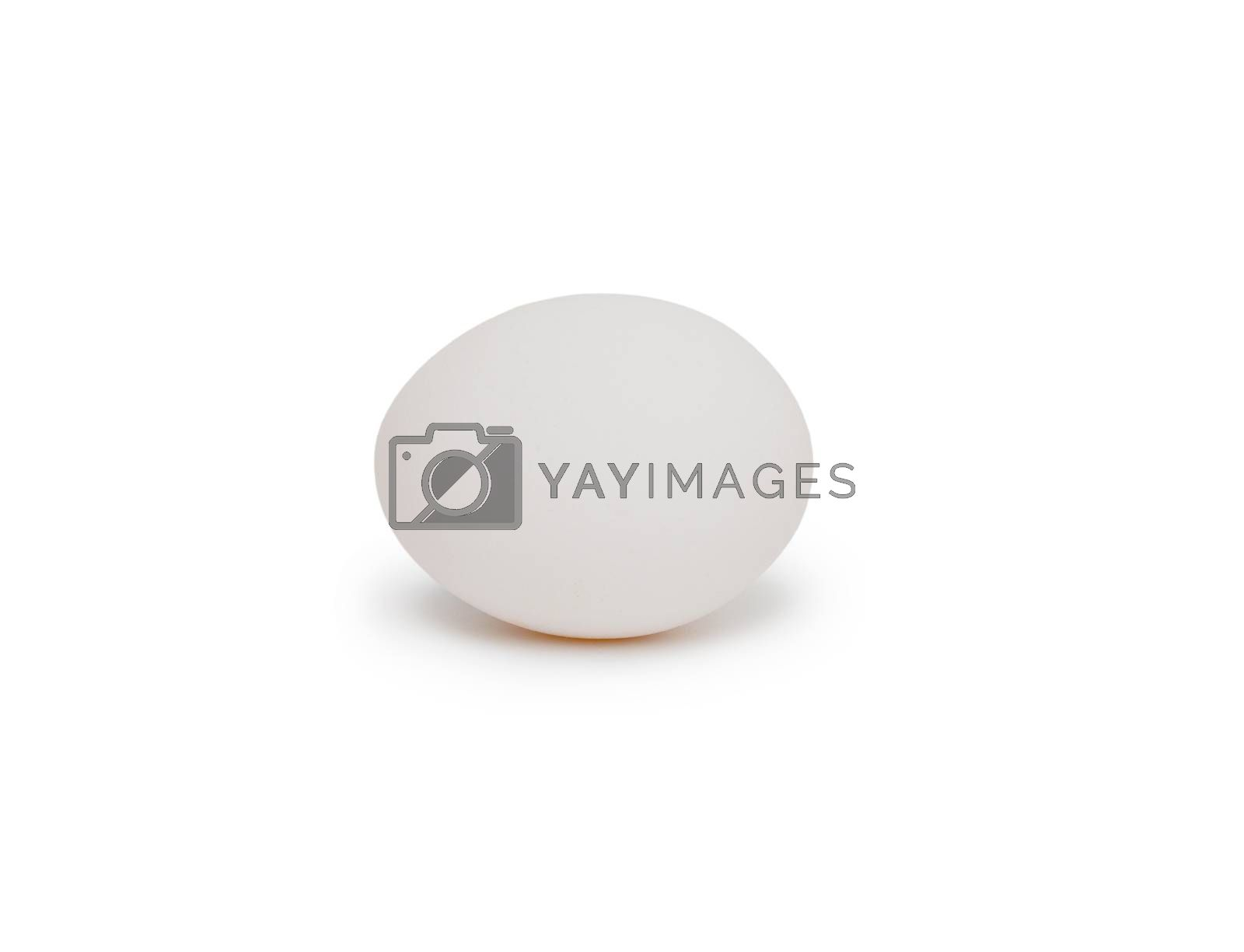 Royalty free image of White egg isolated on white background by cocoo