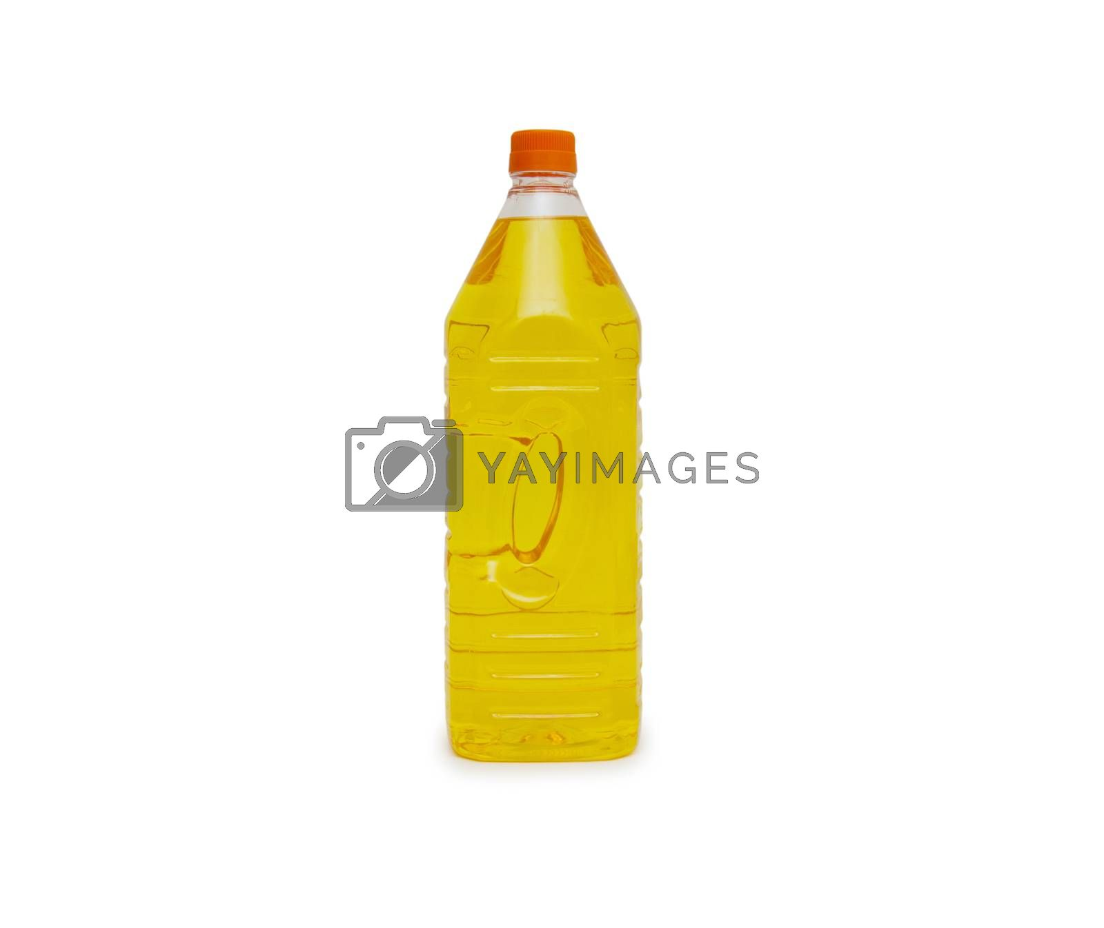 Royalty free image of Olive oil bottle on white by cocoo