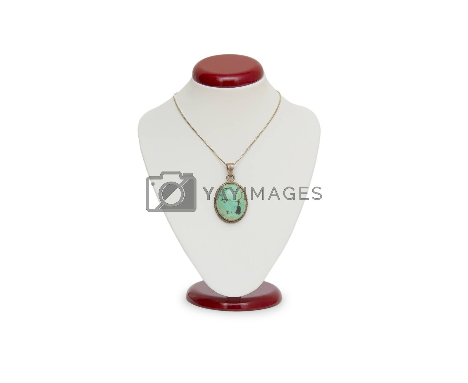 Royalty free image of Necklace isolated on the white by cocoo
