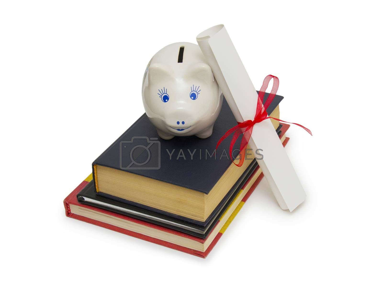 Royalty free image of Education fund, concept of saving for college by cocoo