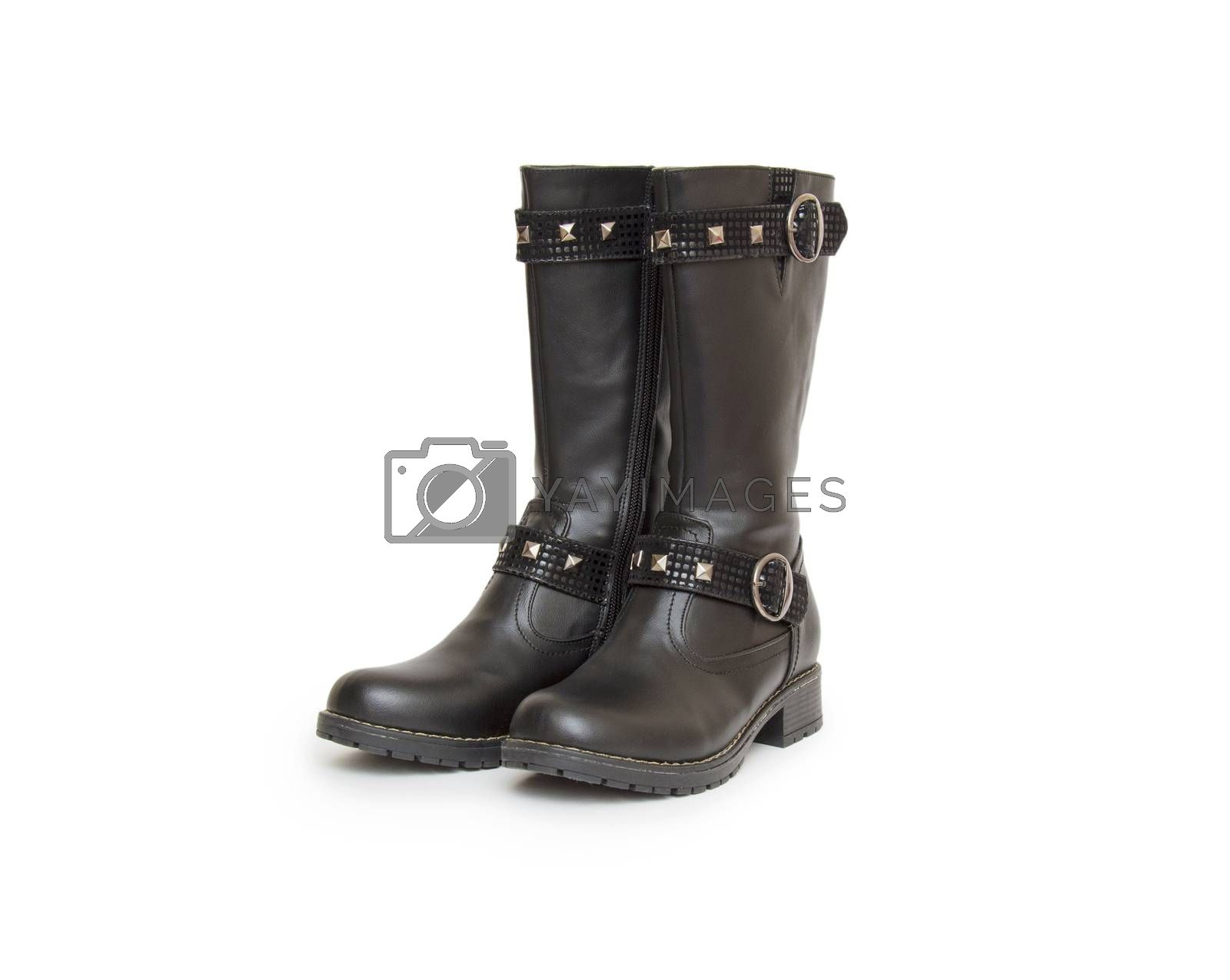 Royalty free image of Stylish boots isolated on white by cocoo