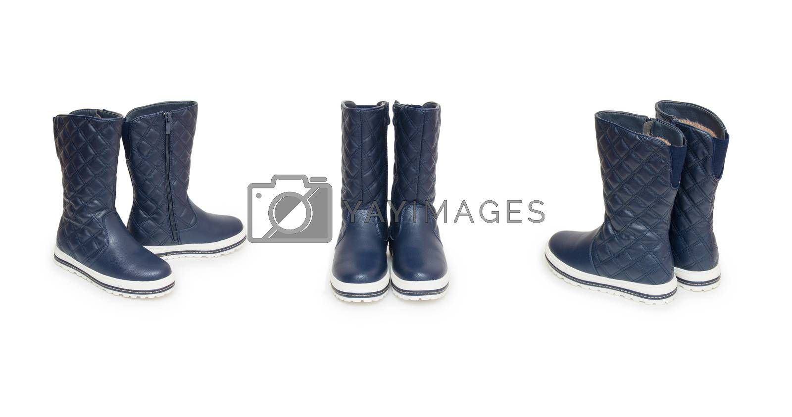 Royalty free image of boots isolated on white background by cocoo