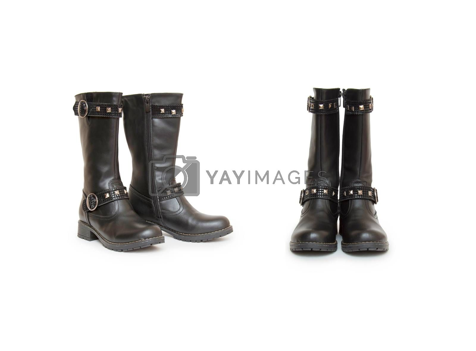 Royalty free image of Stylish women's boots isolated on white by cocoo