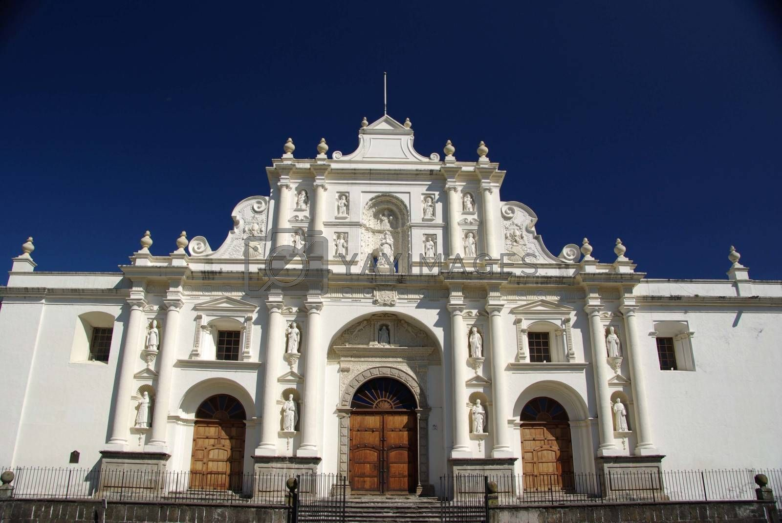 Cathedral in the ancient colonial city of Antigua in Guatemala, Central America