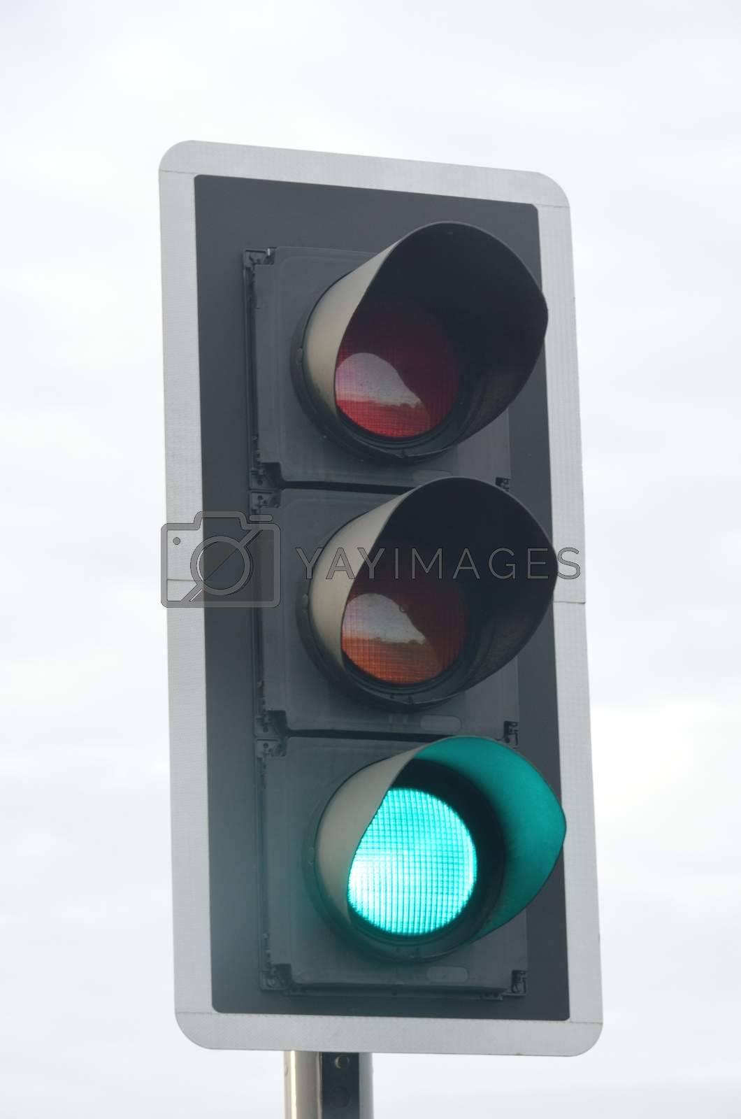Traffic Light signal  at green