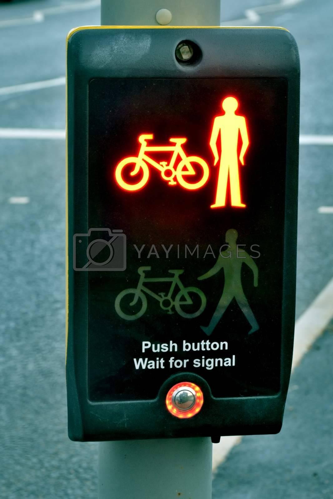 Pedestrian Control signal set at Red
