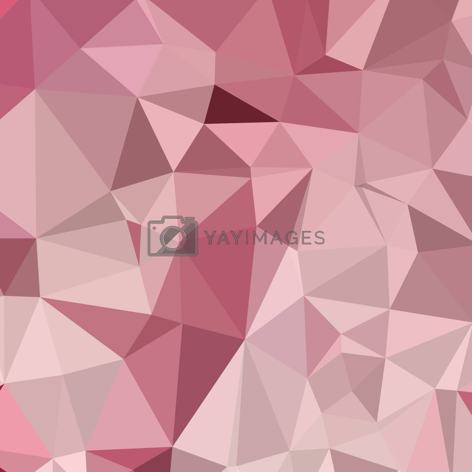 Low polygon style illustration of a carnation pink abstract geometric background.