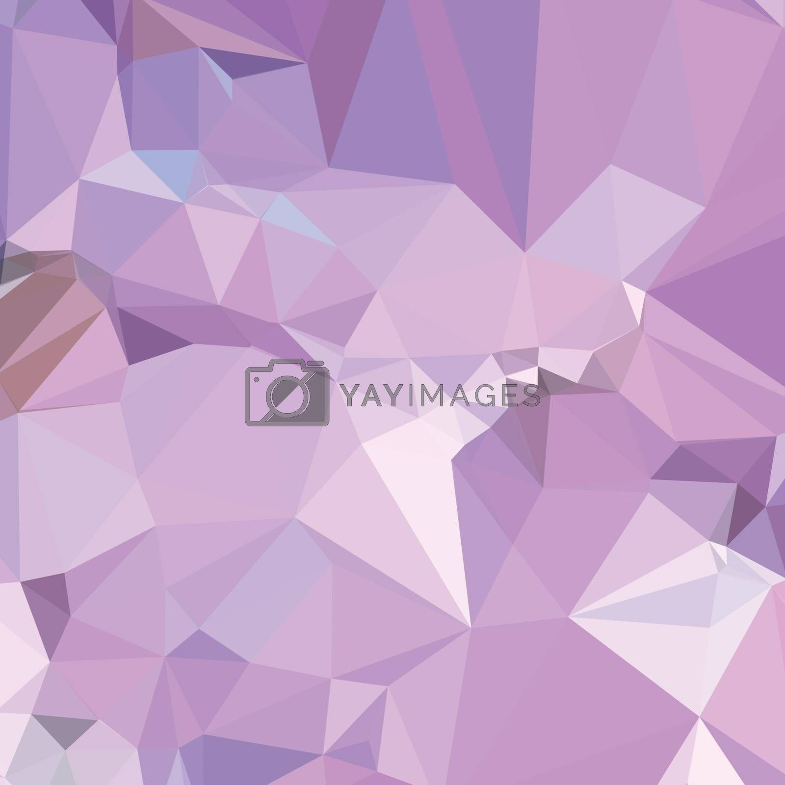 Low polygon style illustration of electric lavender abstract geometric background.
