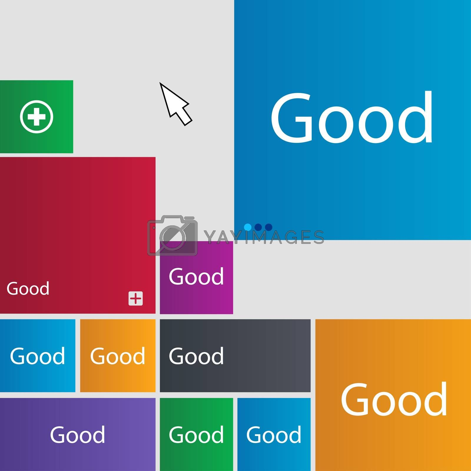 Good sign icon. Set of colored buttons.  by Serhii Lohvyniuk