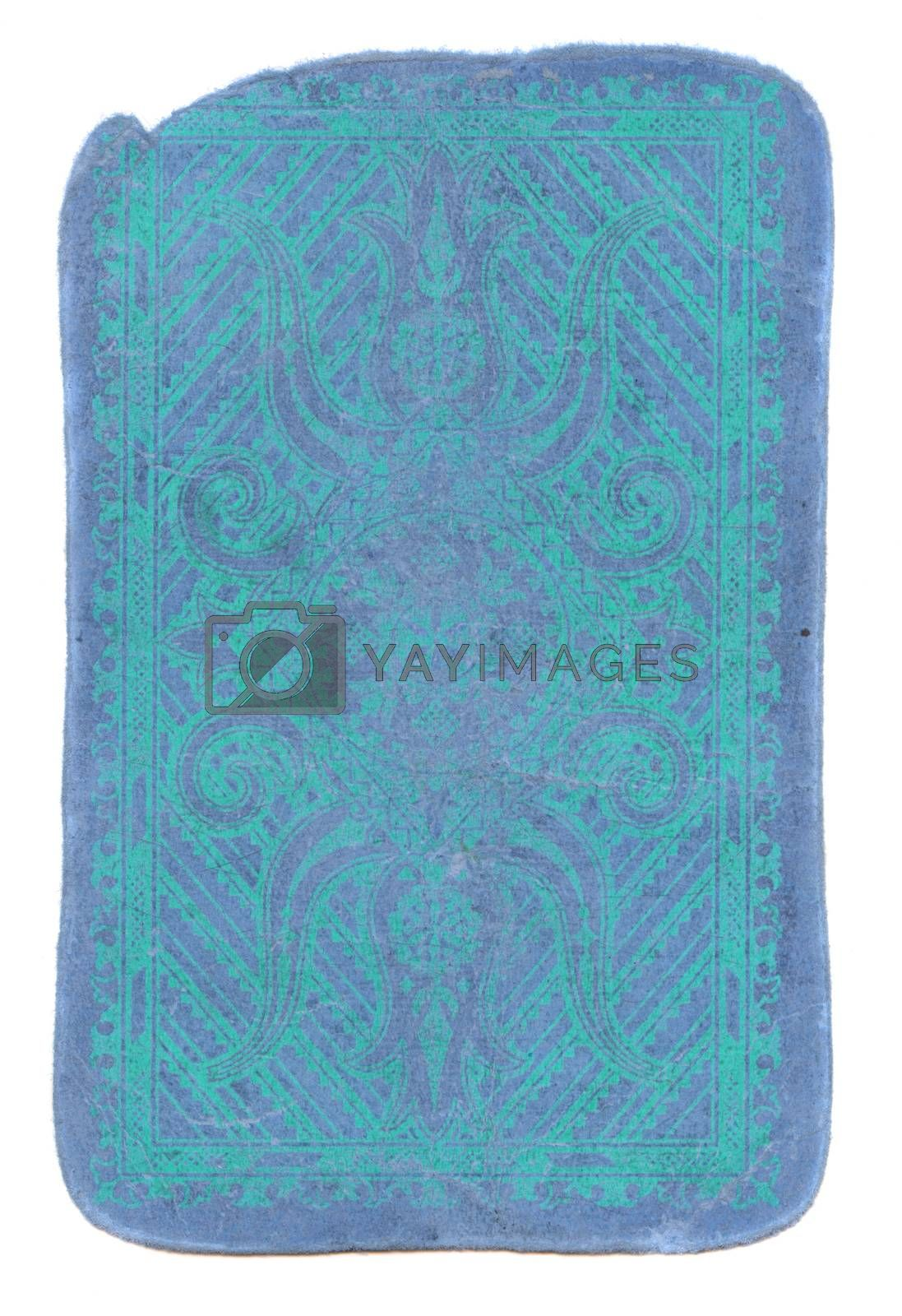 Royalty free image of Isolated used blue background of playing card cover by alis_photo