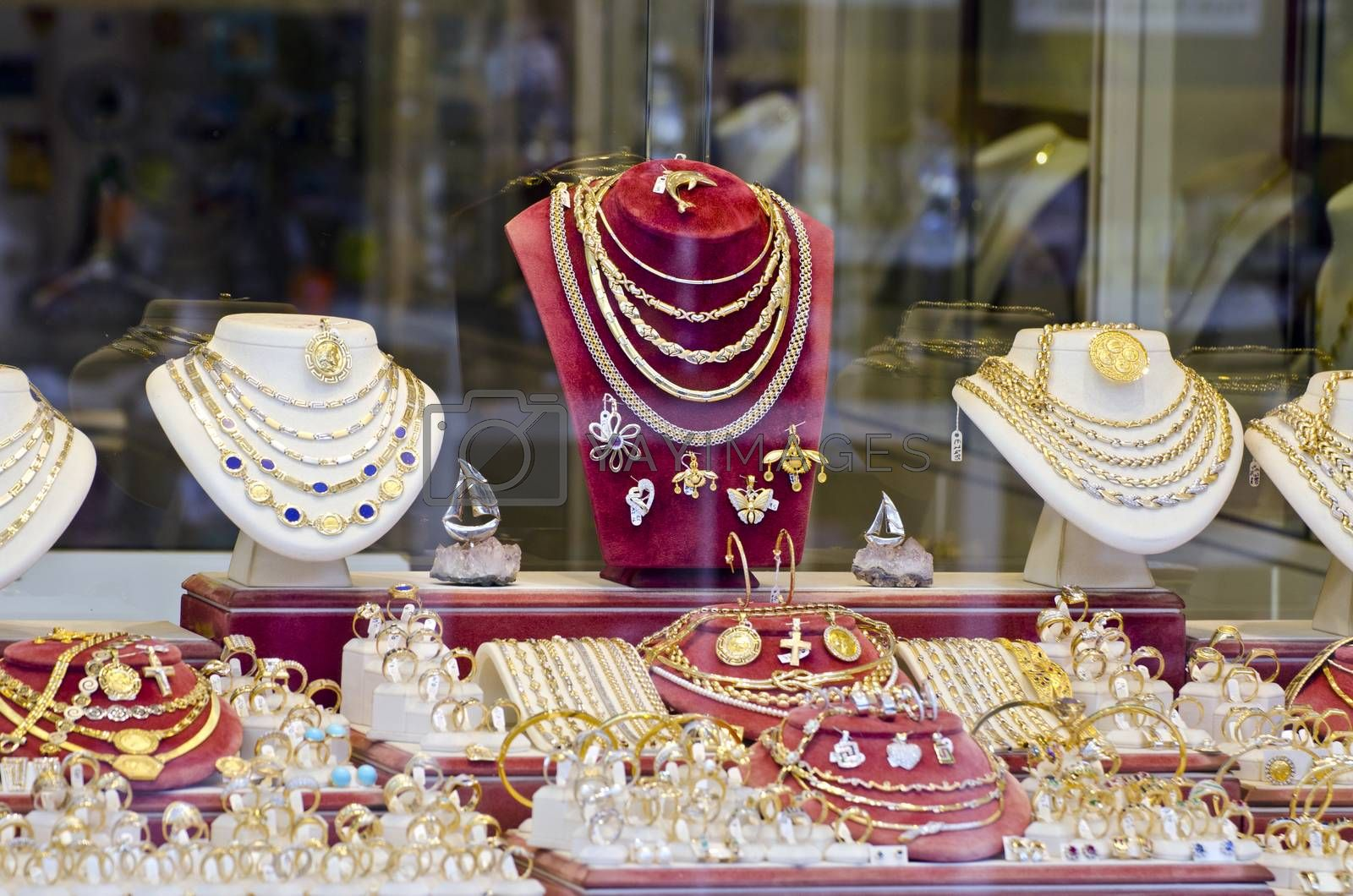 Royalty free image of Various gold and silver jewelry by alis_photo
