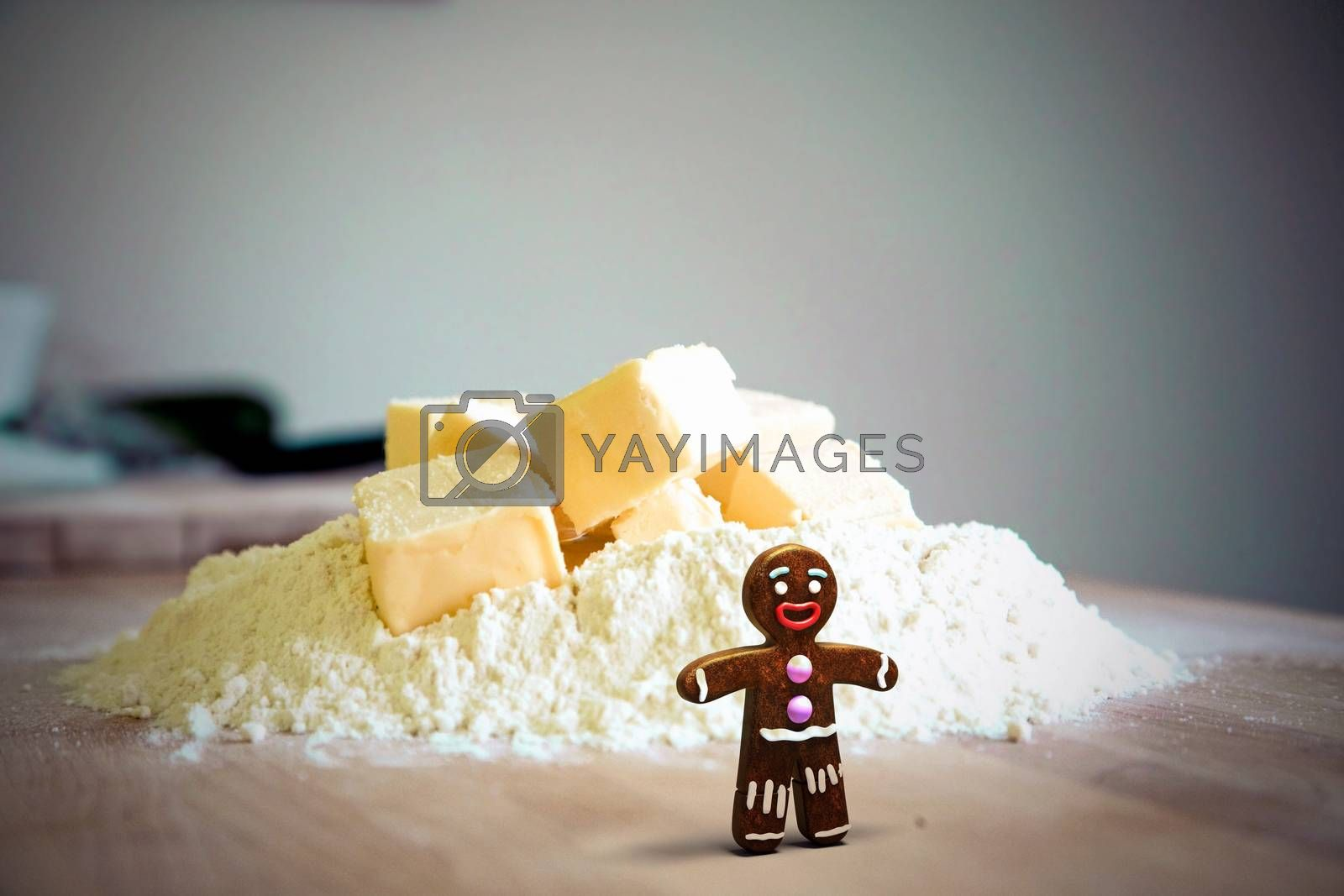 gingerbread man on kitchen table