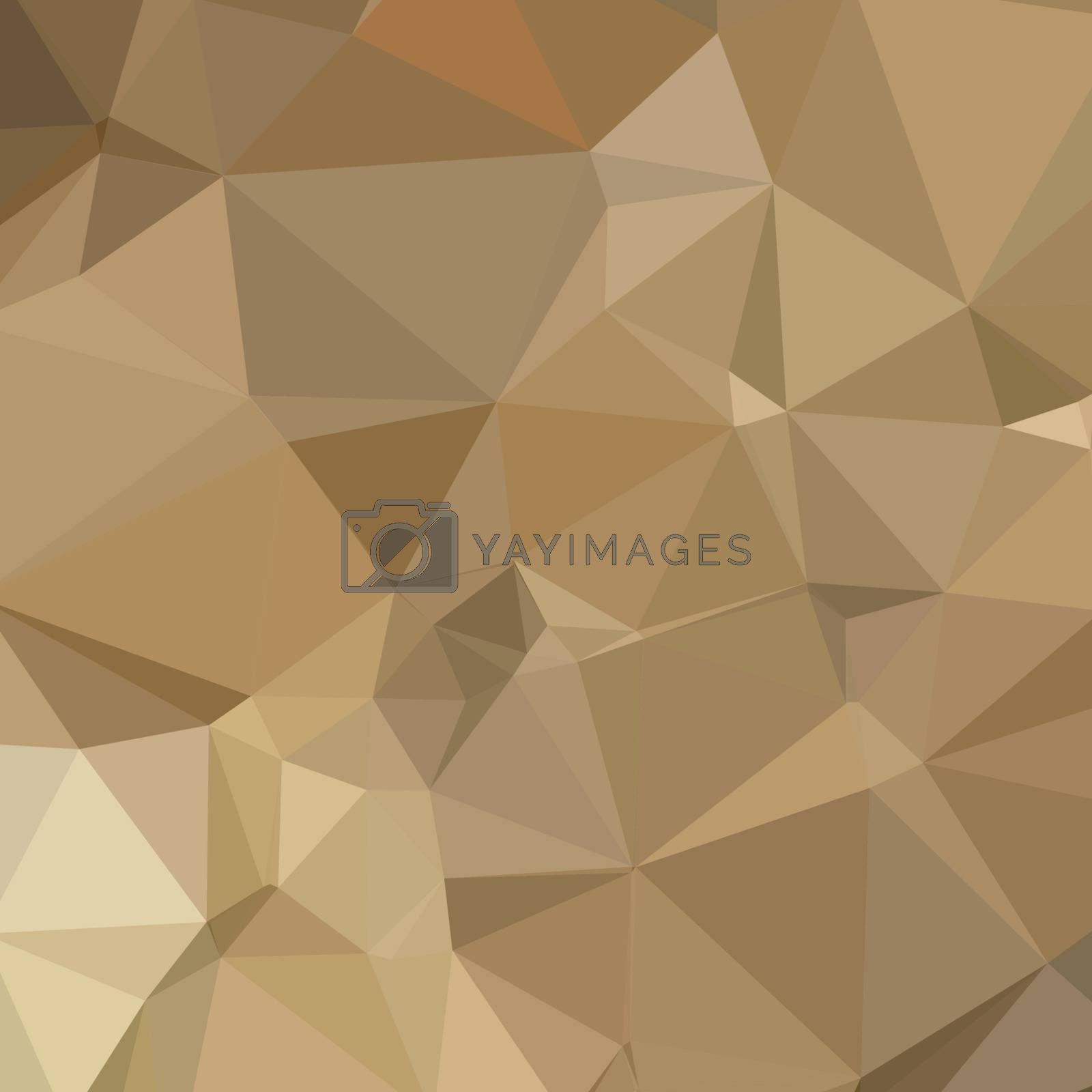 Low polygon style illustration of burlywood brown abstract geometric background.