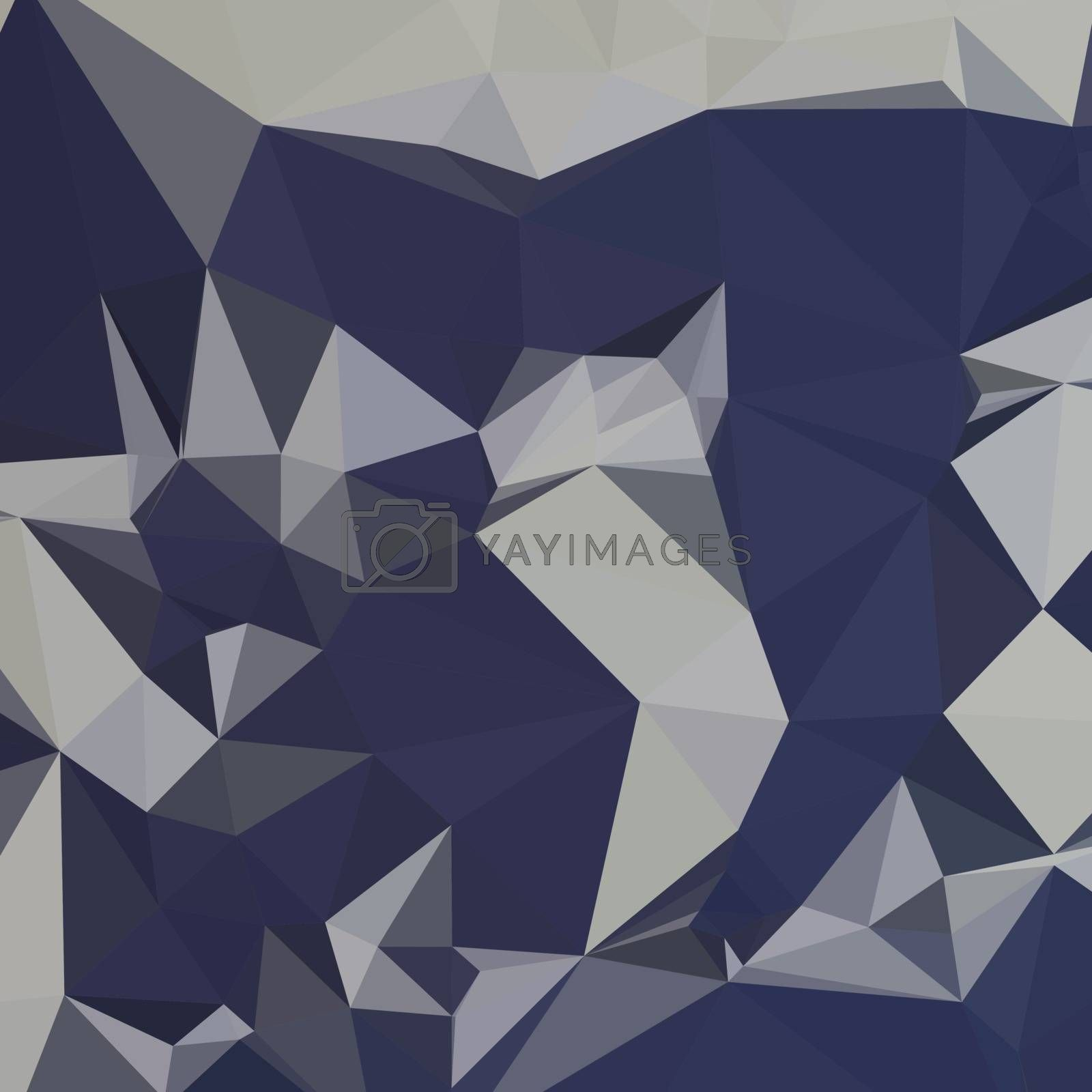 Low polygon style illustration of cool black blue abstract geometric background.