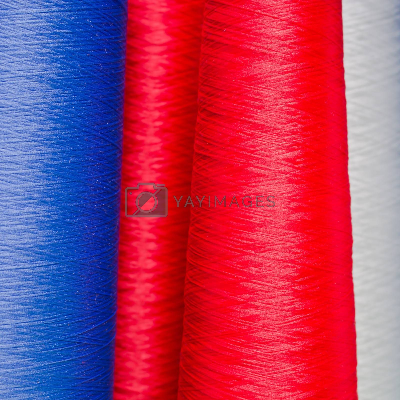 Colorful spool of thread