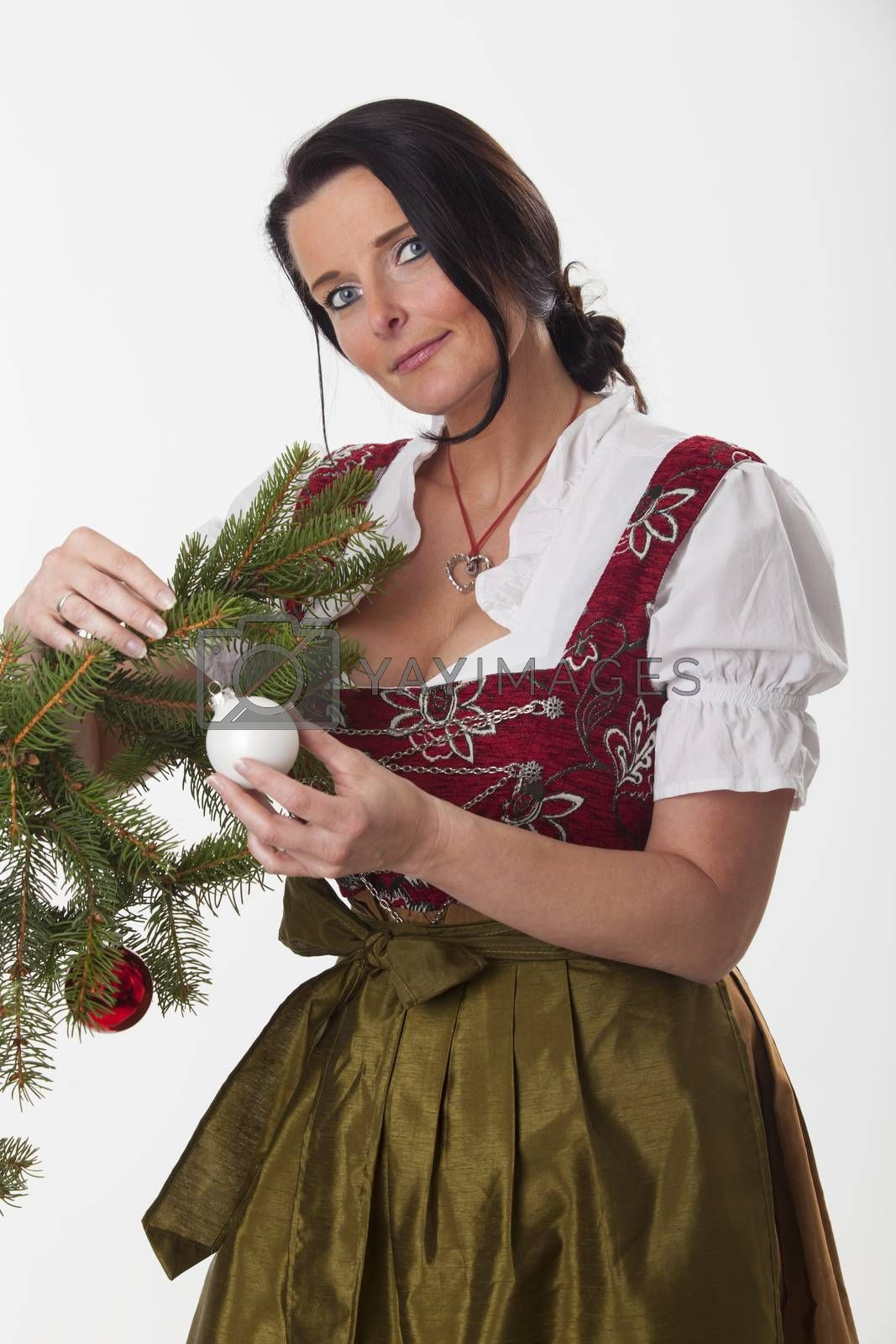 woman with a christmas bauble