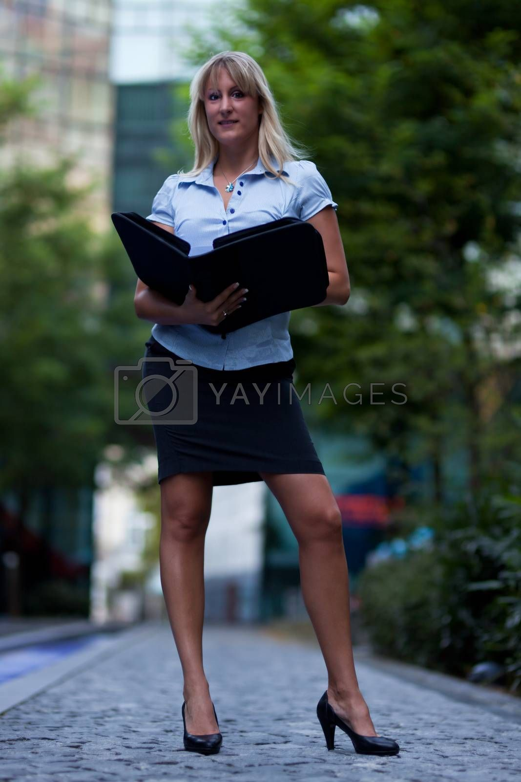 business woman outdoor in summer
