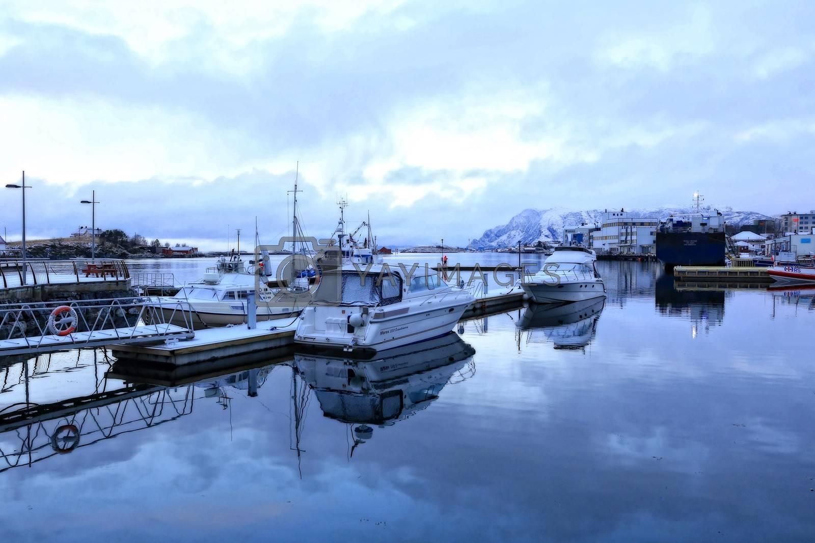 Vinter i gjestehavna - Brønnøysund
