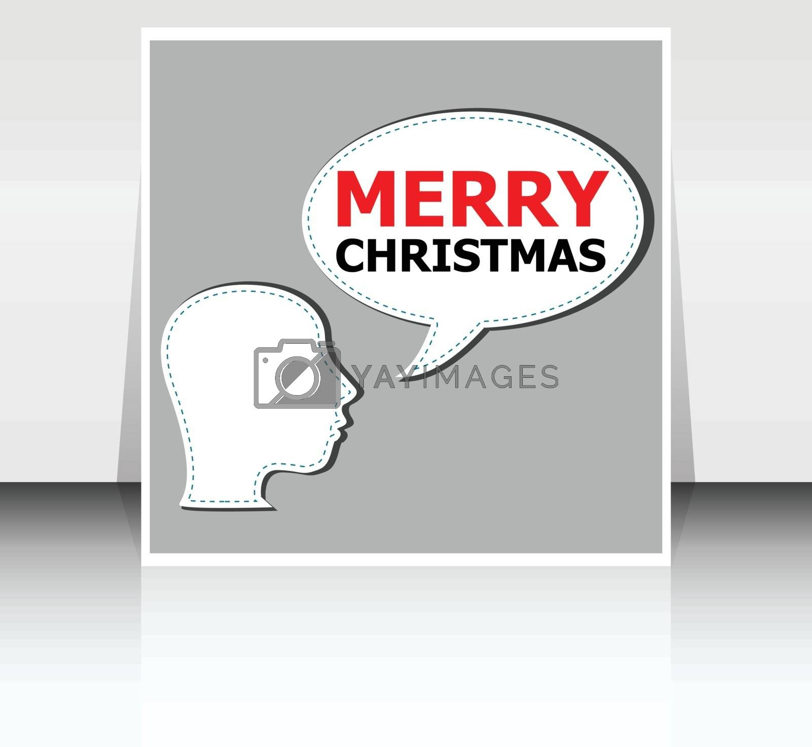 Classic Holiday Vector Lettering Series. Merry Christmas and Happy New Year greetings card by fotoscool