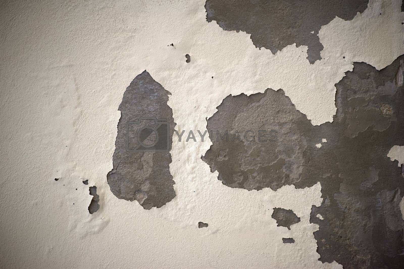 Royalty free image of Cracked plaster by ginton