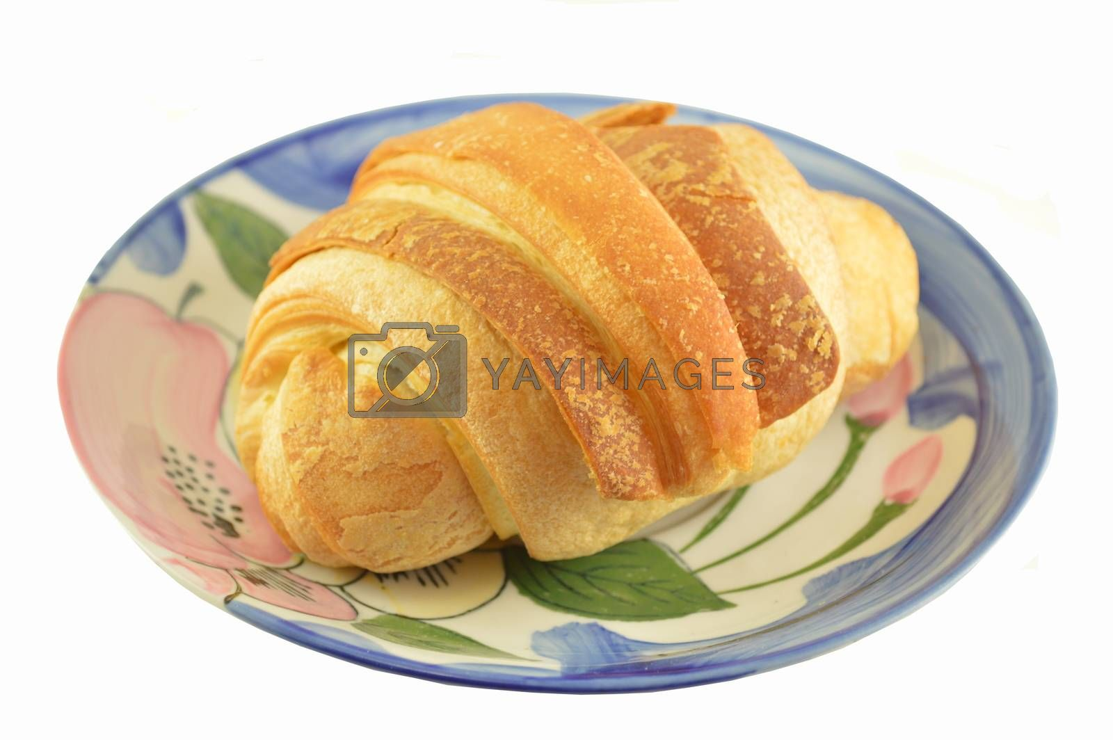 Butter croissant isolated