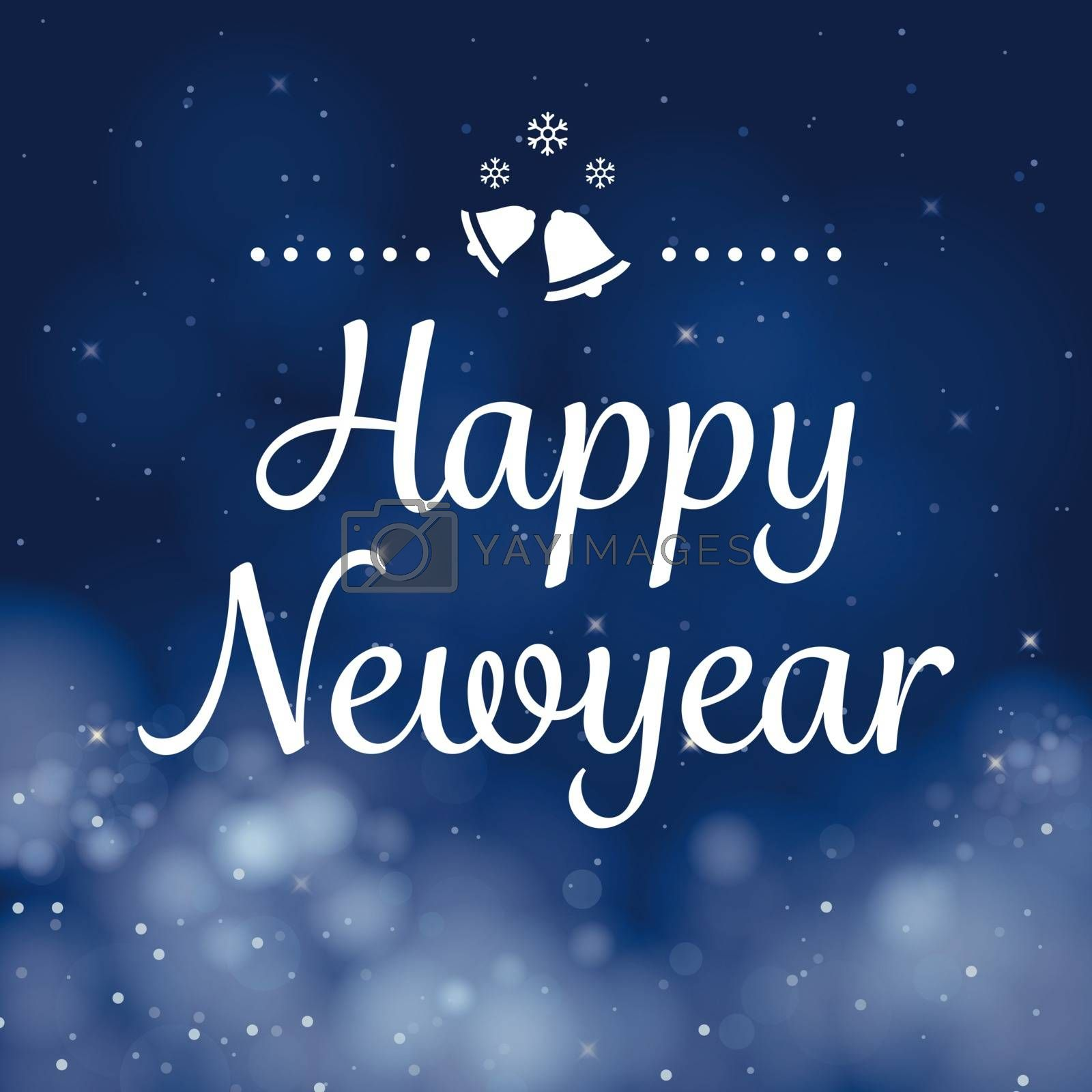happy new year calligraphy card vector design