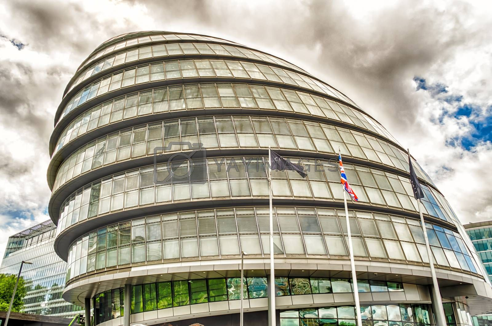LONDON - MAY 29: London City Hall Building, on May 29, 2015. It was designed by Norman Foster and opened in July 2002 as the headquarters of the Greater London Authority