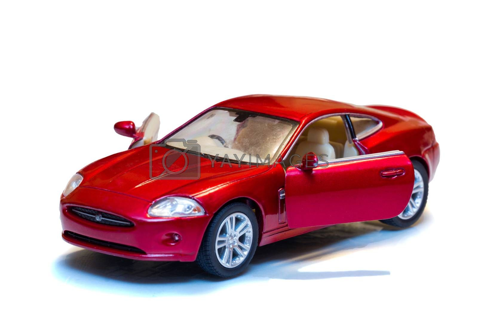 The photo shows the car on a white background