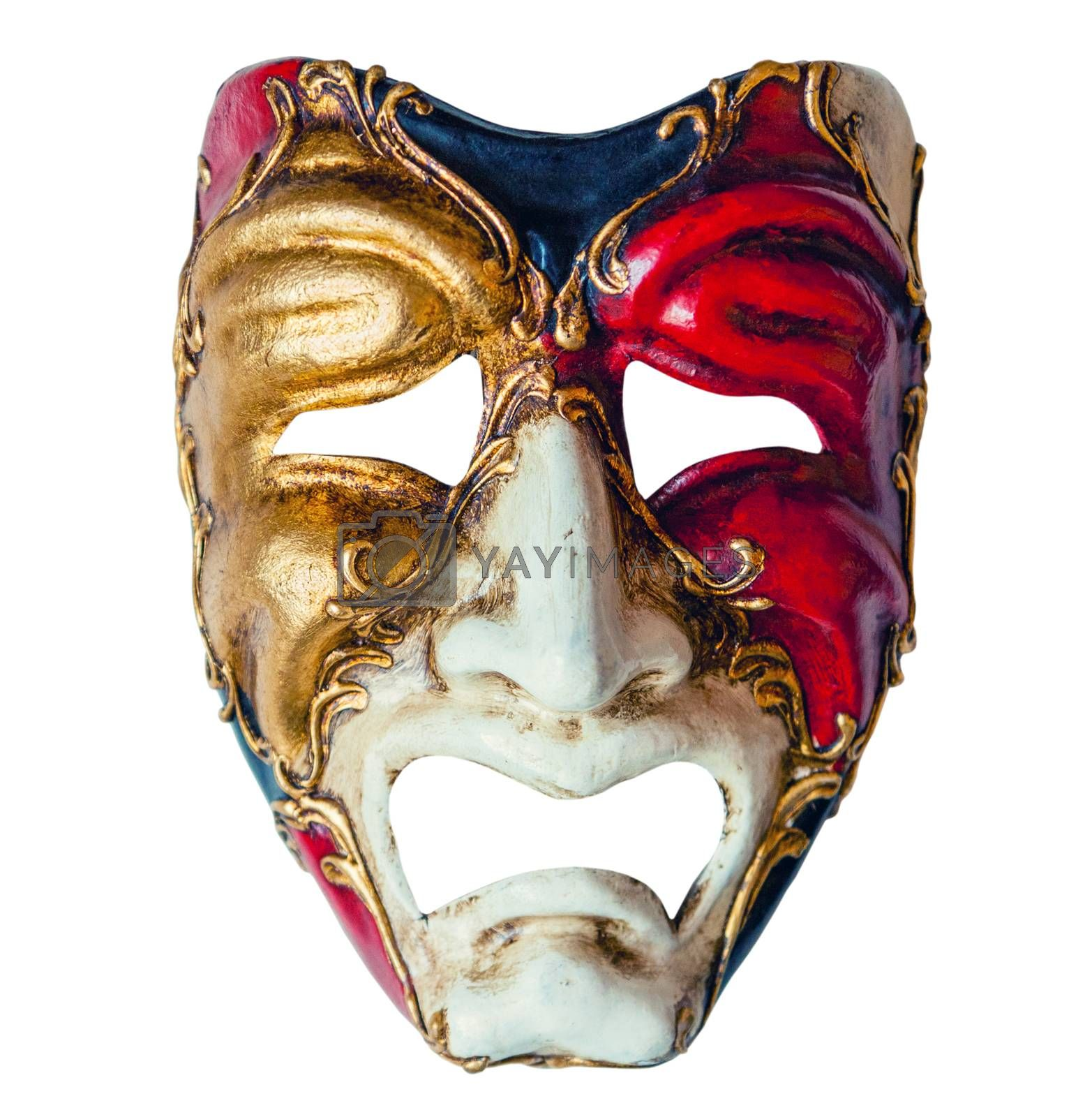 Luxury carnival mask isolated on white background