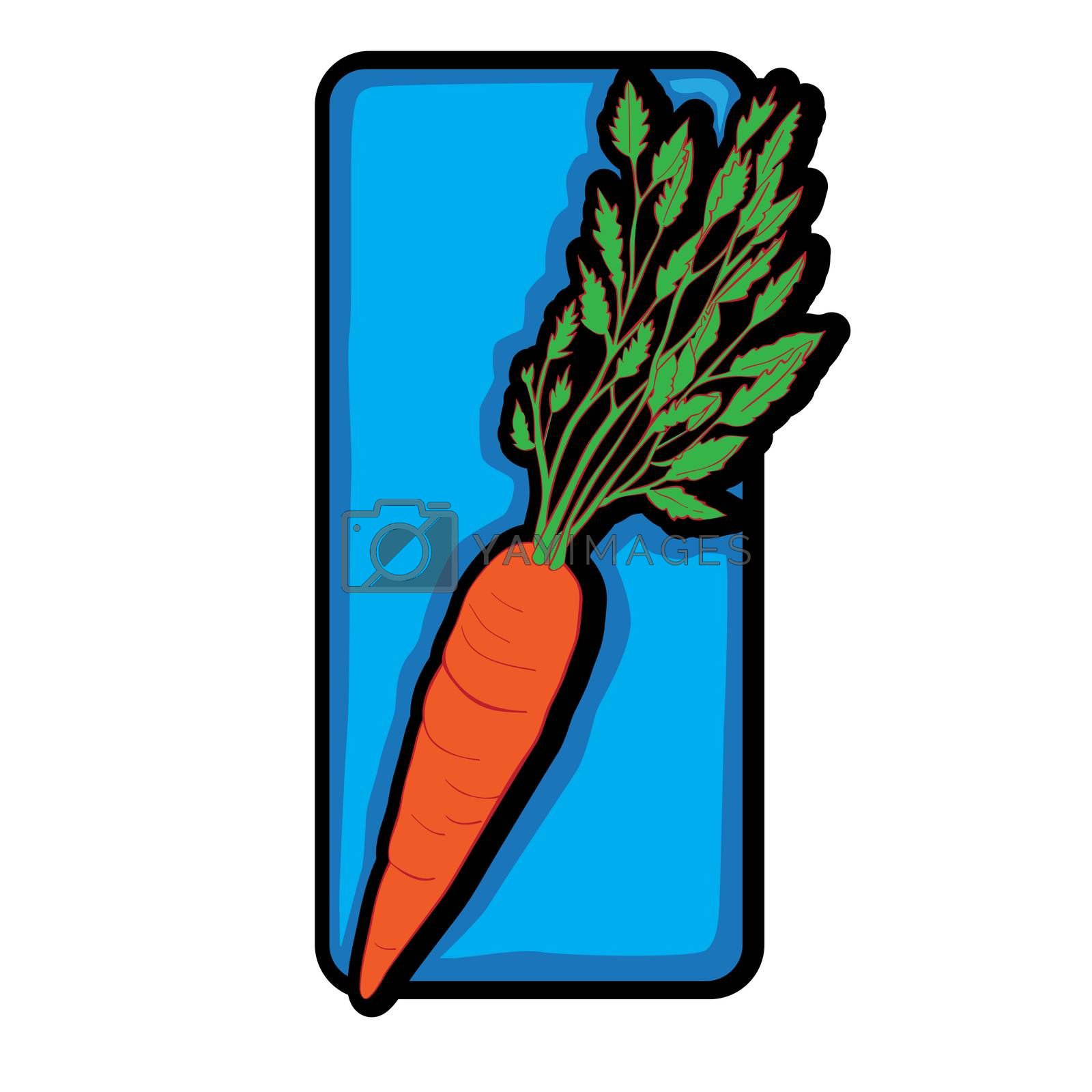 Carrot clip art,doodle hand drawn illustration isolated on white