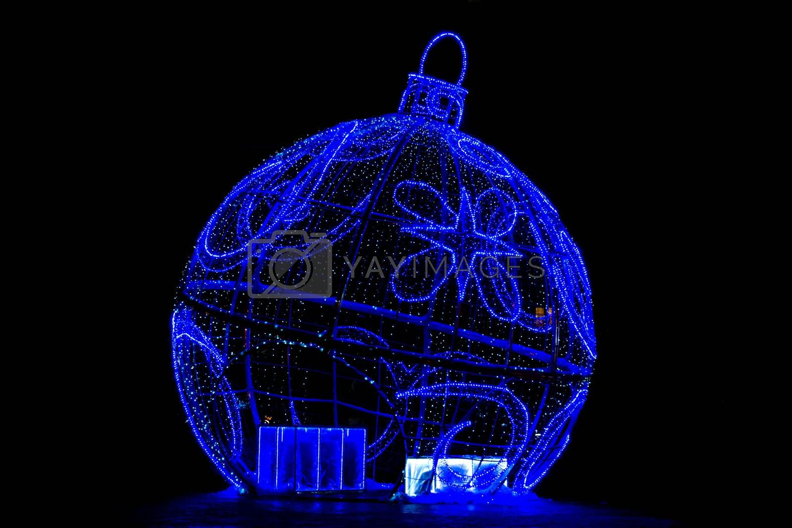 The photo shows a Christmas Toy of bulbs