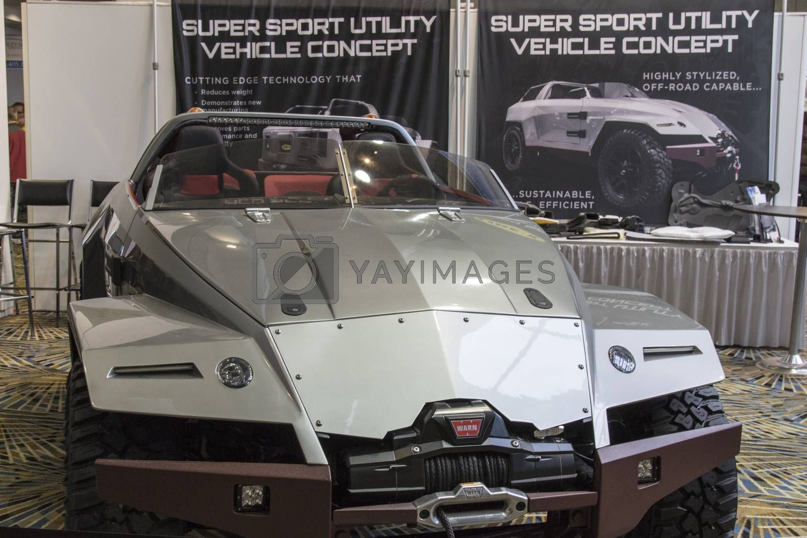Royalty free image of DETROIT - JANUARY 17 :Suer sport utlity vehicle concept at The N by snokid
