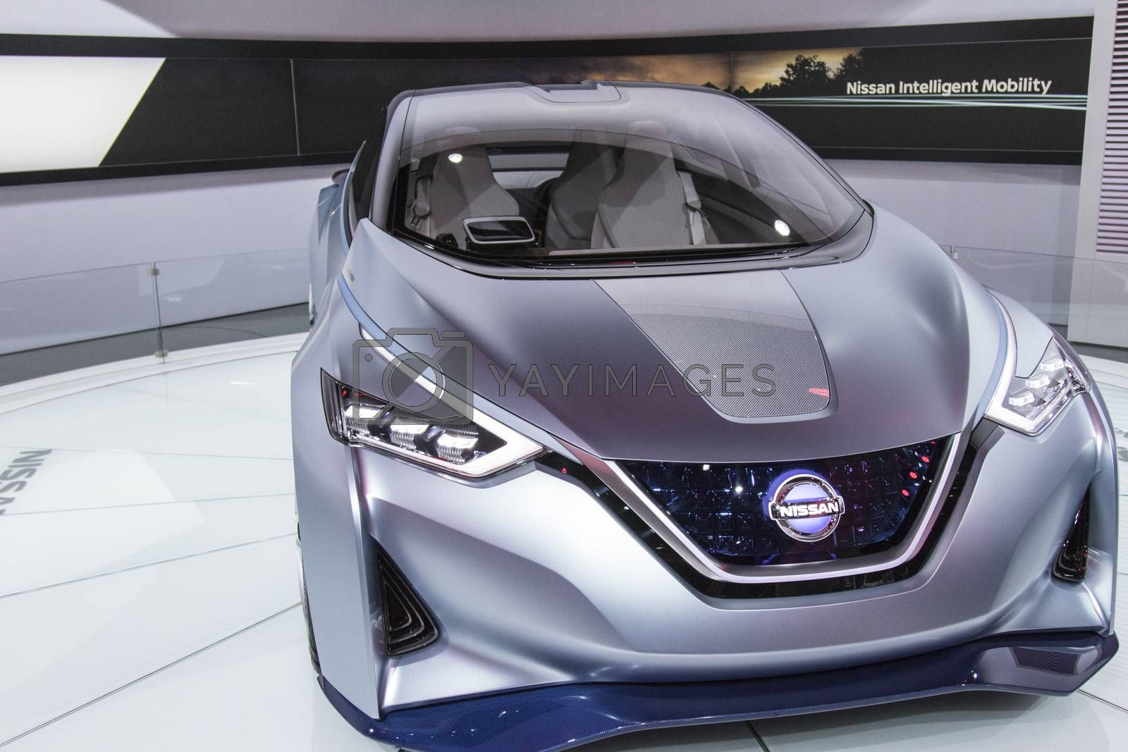 Royalty free image of DETROIT - JANUARY 17 :The 2017 Nissan IDS concept at The North A by snokid