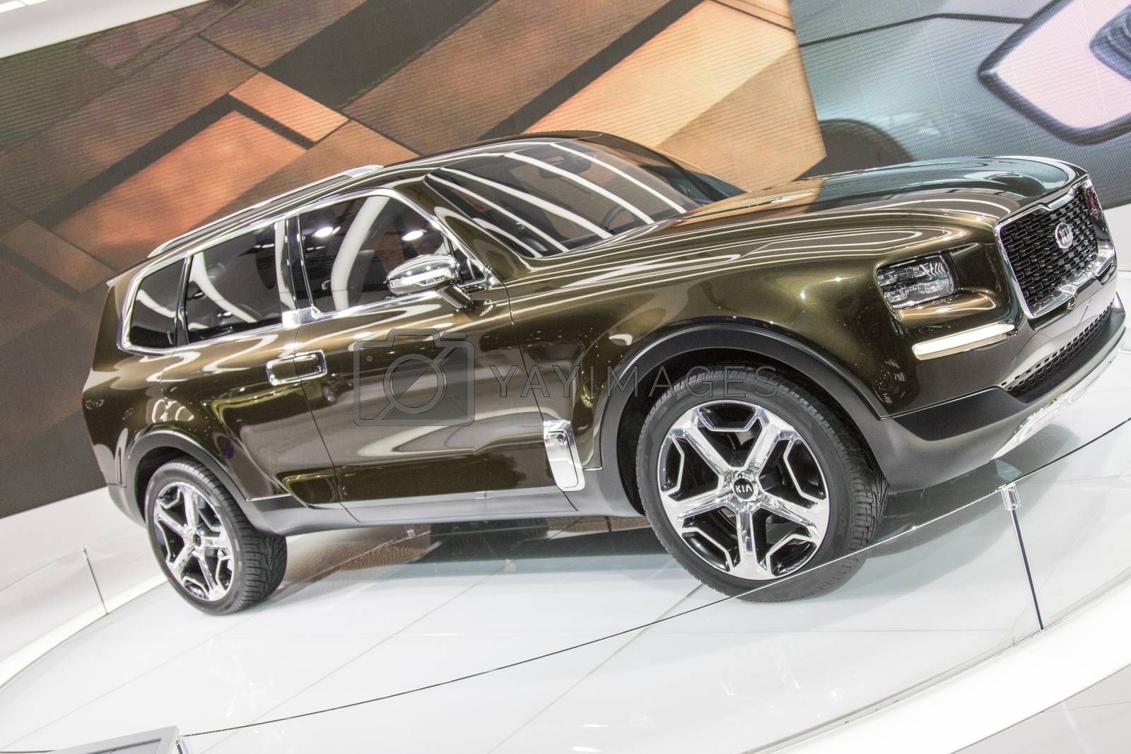Royalty free image of DETROIT - JANUARY 17 :The 2017 Kia Telluride concept at The Nort by snokid