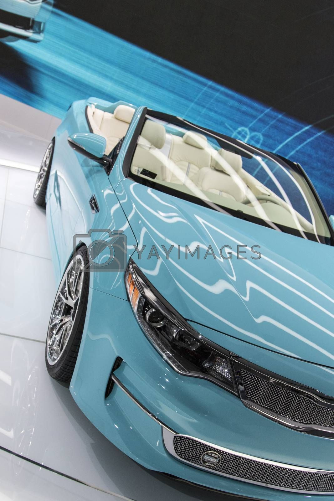 Royalty free image of DETROIT - JANUARY 17 :The 2017 Kia A1A Optima concept at The Nor by snokid