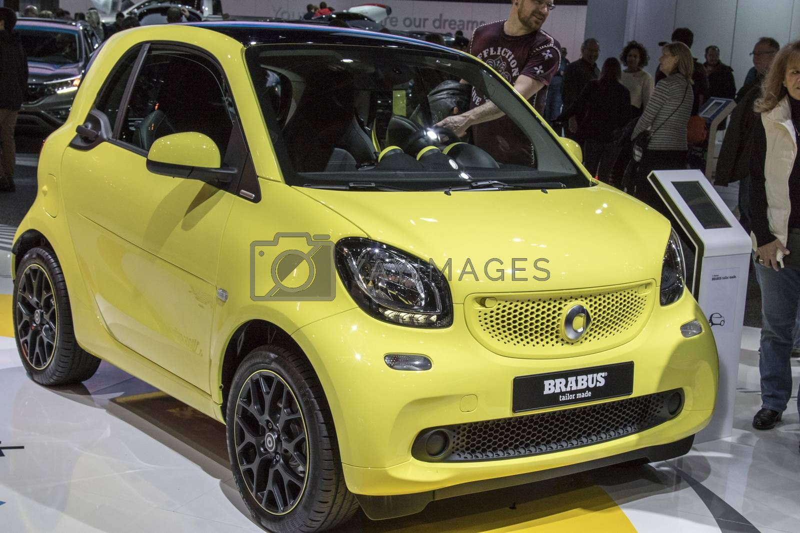 Royalty free image of DETROIT - JANUARY 17 :The 2017 Smart car Brabus coupe at The Nor by snokid