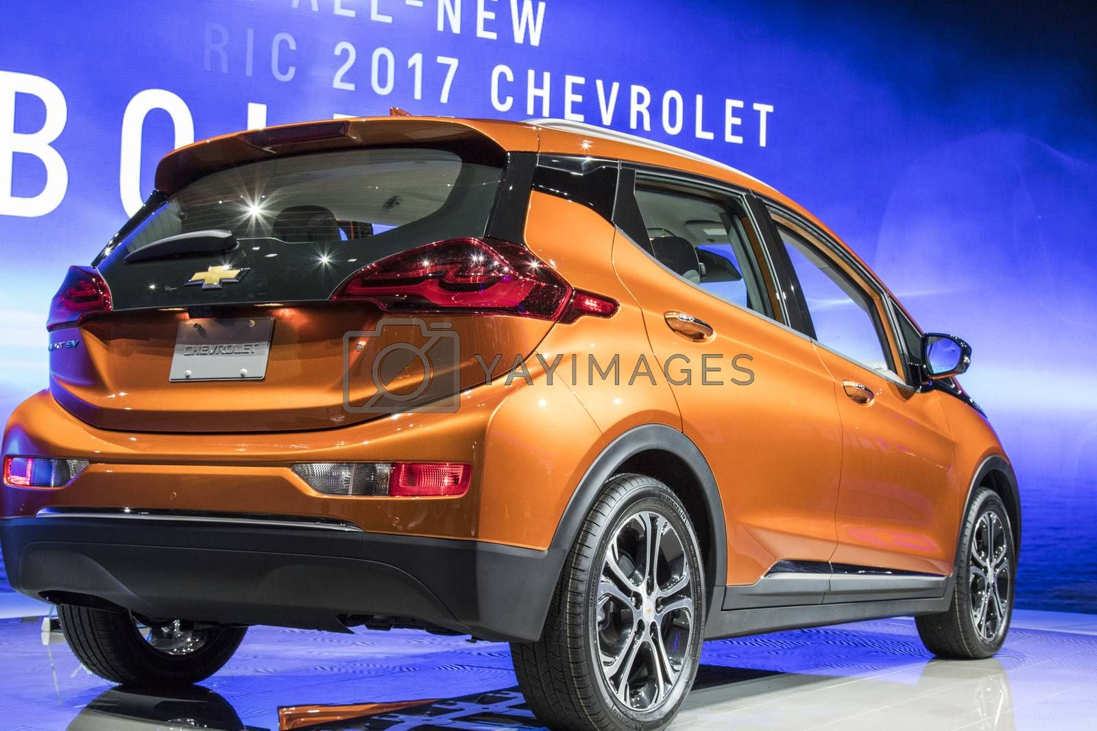 Royalty free image of DETROIT - JANUARY 17 :The 2017 Chevrolet Bolt EV at The North Am by snokid