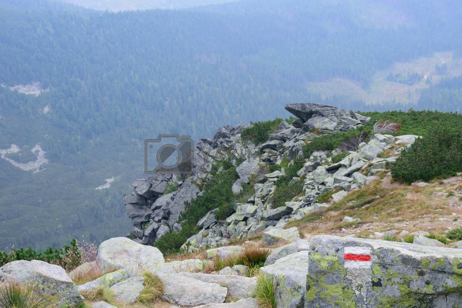 Footpath Marker in Tatra mountains
